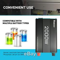 2000-Watt Solar 12-Volt Pure Sine Wave Off Grid Battery Inverter with USB Port
