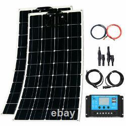 200W Watt Solar Panel Mono 18V Volt for Off Grid RV Camping Boat Home Garden Bat