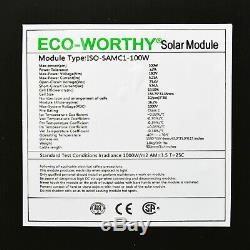 200 Watt 12 Volt Flexible Monocrystalline Solar Panel Kit 20A Charge Controller
