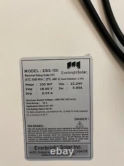 200 Watt 12 Volt Mono Solar Panel 2-100w 12V Off Grid RV Marine Battery Charging