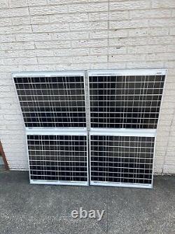 200 Watt 12 Volt Mono Solar Panel 4-50w 12V Off Grid RV Marine Battery Charging