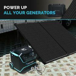 200-Watt 12-Volt Monocrystalline Foldable Suitcase Off-Grid Solar Power Kit