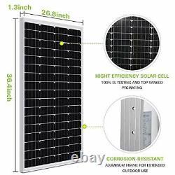 200 Watt 12 Volt Monocrystalline Solar Panel, 2 Pack of 12V 100W High
