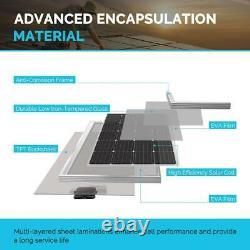 200-Watt 12-Volt Monocrystalline Solar Panel for Camper RV Caravan Off Grid App