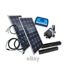 200 Watt BLACK Wohnmobil Camping Solaranlage, 12 Volt SET-WOMO200N20AB