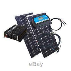 200 Watt Camping Solaranlage, 12 Volt SET mit Spannungswandler