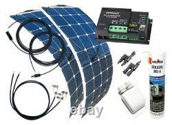 200 Watt Flexi Wohnmobil Camping Solaranlage mit Votronic Laderegler 12 Volt SET