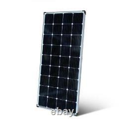 200-Watt Monocrystalline Solar Panel with 12-Volt Charge Controller Aluminum Frame
