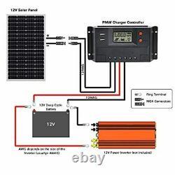 200watt Solar Panel Charger Kit for 12 Volt Battery RV Camper Boat Cargo Trailer