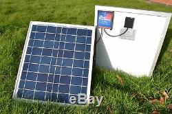 20 Watt 12 Volt Solar Panel for Waverunner & Atom Bait Boat Batteries