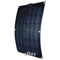 22.2 x 11.13 x 0.07 Inch 12 Volt 25 Watt Semi Flex Monocrystalline Solar Panel
