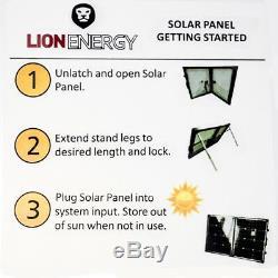 24 VOLT LION ENERGY Solar Panel Portable Model Number 50170041 100 Watt
