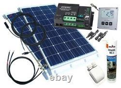 260Watt Wohnmobil Solaranlage 12Volt Set mit Votronic Laderegler, Temperatursens