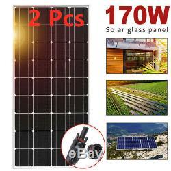 2X 170 Watt 170W Solar Panel Mono 12V Volt Off Grid RV Boat Solar Battery Charge