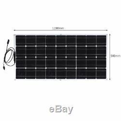 2X Solar Cynergy 120 Watt 12 Volt Mono Flexible Bendable Solar Panel RV Boat BP