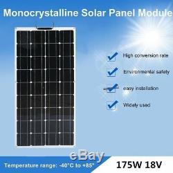 2- 175 Watt 12 Volt Battery Charger Solar Panel Off Grid RV Boat 350 watt MX#