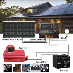 2- 175 Watt 12 Volt Battery Charger Solar Panel Off Grid RV Boat 350 watt OY#