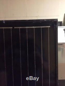 2- 200 Watt 12 Volt Battery Charger Solar Panel Off Grid RV Boat black on black