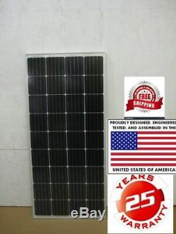 2- 205 Watt 12 Volt Battery Charger Solar Panel Off Grid RV Boat 410 W NEW CELL