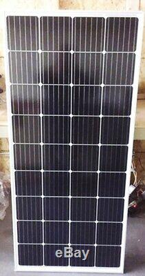 2- 210 Watt 12 Volt Battery Charger Solar Panel Off Grid RV Boat 420 watt total