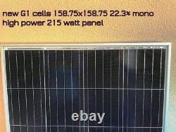 2- 215 Watt 12 Volt Battery Charger Solar Panel Off Grid RV Boat 430 watt total
