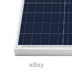 2 Pcs Open Box HQST 100W Watt 12V Volt Solar Panel Poly Off Grid Power RV Boat