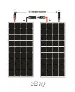 2 Pcs Renogy 100 Watt 12 Volt Solar Panel RNG-100D 200W total, 12V/24V (100W ea)