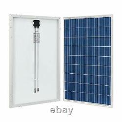2 Pieces 100 Watt 12 Volt Polycrystalline Solar Panel High Efficiency Solar Mod