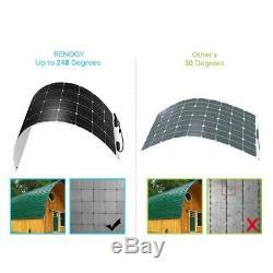 2 Renogy 248° Flexible 100W Watt 12 Volt Flexible Mono Solar Panel 100W RV Camp