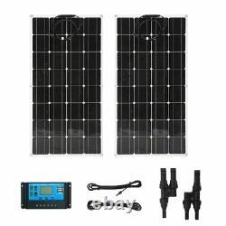 (2 pcs) 100W Watts 100 Watt Solar Panel Off Grid 12 Volt 12V RV Boat Off Grid US
