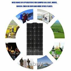(2 pcs) 100W Watts 200 Watt Solar Panel Off Grid 12 Volt 24V RV Boat Off Grid US