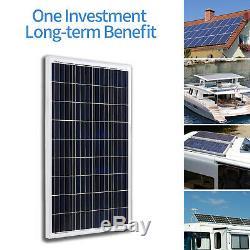 2pcs 100 Watt 12 Volt Polycrystalline Solar Panels Kit for RV