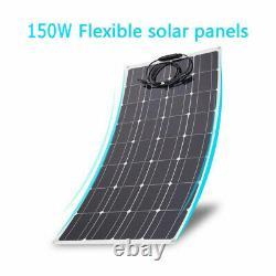 2x 150Watt 18Volt Solar Panel 300W 18V Off Grid Power Charge RV Boat Home SY