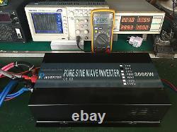 3000 Watt Power Inverter 24 Volt DC to AC 120V Pure Sine Wave Car Truck Motor RV