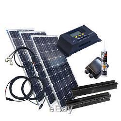 300 Watt Wohnmobil Camping Solaranlage BLACK, 12 Volt SET