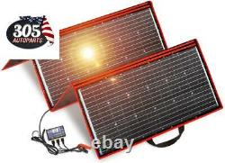 300 Watts 12 Volts Foldable Solar Panel with Inverter Charge Controller for RV