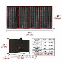 300 Watts 18 Volts Portable Foldable Solar Panel Monocrystalline with