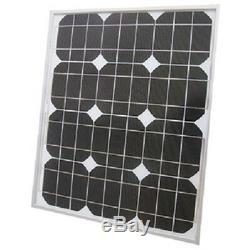 30.5 x 26.4 x 1.4 Inch 12 Volt 80 Watt Monocrystalline Solar Panel for Boats