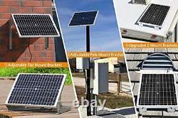 30watt Solar Panel Charger Kit for 12 Volt Boat Battery Marine Car Dump Trailer
