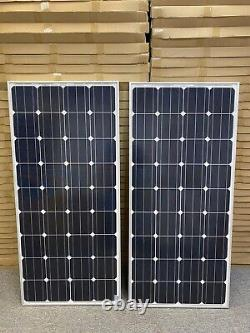 340 Watt 12 Volt Mono Solar Panel 2-170w 12V Off Grid RV Marine Battery Charging