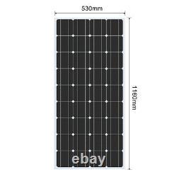400W 12 Volt Solar Panel Kit 4 x 100w Monocrystalline Module 40A Controller RV