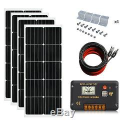 400W 200W 12 Volt Solar Panel Kit Compact Size For RV Marine Shed Battery Charge