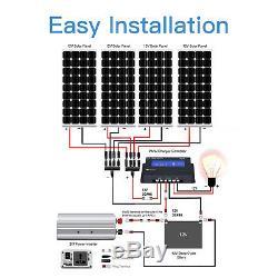 400 Watt 24 Volt Monocrystalline Solar Starter Kit with PWM Charge Controller