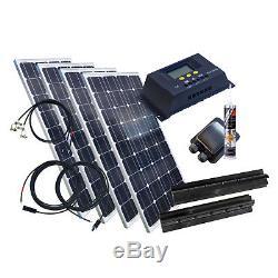 400 Watt Wohnmobil Camping Solaranlage BLACK, 12 Volt SET