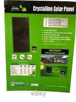 40% of 5x Nature Power 165-Watt Monocrystalline Solar Panel for 12-Volt Charging