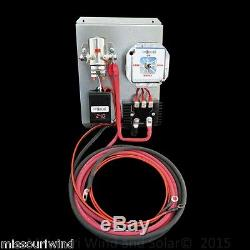 48 volt digital charge controller with brake switch for wind and solar panel