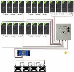 4KW 2KW 48Volt Off Grid Solar Panel Kit200W Solar Panels For Home Garden Shed