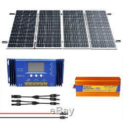 4-120W 500W Watt 24 Volt Complete Solar Panel System For Home Garden Farm Ground