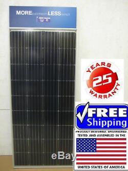 4- 200 +25% Watt 12 Volt Battery Charger Solar Panel Off Grid RV Boat 800+ 25% W
