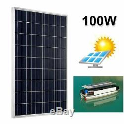 (4 X 100W=400W) 100 Watt 12 Volt Polycrystalline Solar Panel 100W 12V EK